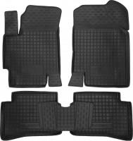 Коврики в салон для Hyundai Accent '06-10 резиновые, черные (AVTO-Gumm)
