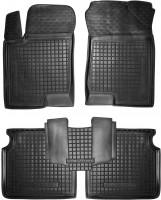Коврики в салон для Hyundai Sonata '05-10 резиновые, черные (AVTO-Gumm)