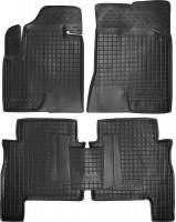 Коврики в салон для Hyundai Santa Fe '06-10 CM резиновые, черные (AVTO-Gumm)