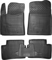 Коврики в салон для Hyundai i-10 '14- резиновые, черные (AVTO-Gumm)