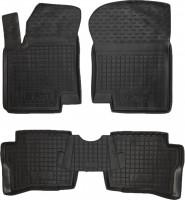 Коврики в салон для Hyundai i-20 '08-14 резиновые, черные (AVTO-Gumm)