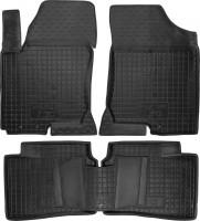 Коврики в салон для Hyundai i30 FD '07-12 резиновые, черные (AVTO-Gumm)