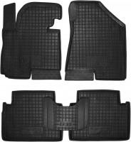 Коврики в салон для Hyundai ix-35 '10-15 резиновые, черные (AVTO-Gumm)