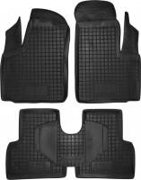 Коврики в салон для Fiat Doblo '01-09 резиновые, черные (AVTO-Gumm)