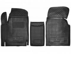 Коврики в салон для Fiat Scudo '00-06 резиновые, черные (AVTO-Gumm)