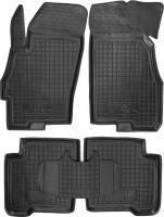 Коврики в салон для Fiat Linea '07-15 резиновые, черные (AVTO-Gumm)