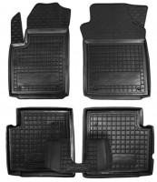 Коврики в салон для Fiat 500 '08- резиновые, черные (AVTO-Gumm)
