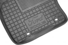 Фото 6 - Коврики в салон для Ford Focus II '04-11 резиновые, черные (AVTO-Gumm)