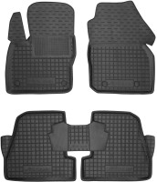 Коврики в салон для Ford Focus III '11- резиновые, черные (AVTO-Gumm)