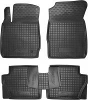 Коврики в салон для Ford Fiesta '09-17 резиновые, черные (AVTO-Gumm)