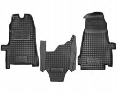 Коврики в салон для Ford Transit '06-13 резиновые, черные (AVTO-Gumm)