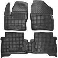 Коврики в салон для Ford Kuga '13- резиновые, черные (AVTO-Gumm)