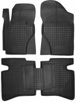 Коврики в салон для Geely MK Sedan '06-14 резиновые, черные (AVTO-Gumm)