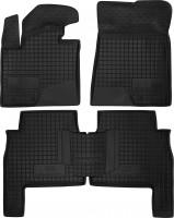 Коврики в салон для Kia Sorento '10-13 XM резиновые, черные (AVTO-Gumm)