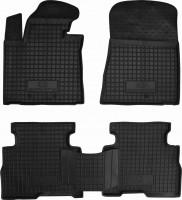 Коврики в салон для Kia Sorento '13- резиновые, черные (AVTO-Gumm)