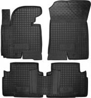 Коврики в салон для Kia Sportage '10-15 резиновые, черные (AVTO-Gumm)
