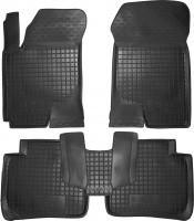 Коврики в салон для Kia Cerato '09-13 резиновые, черные (AVTO-Gumm)