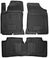 Коврики в салон для Kia Ceed '06-12 резиновые, черные (AVTO-Gumm)