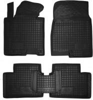 Коврики в салон для Kia Ceed '12- резиновые, черные (AVTO-Gumm)
