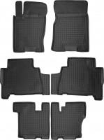 Коврики в салон для Kia Mohave '09- резиновые, черные (AVTO-Gumm) 1+2+3