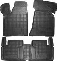 Коврики в салон для Lada (Ваз) 2110-12 '95- резиновые, черные (AVTO-Gumm)