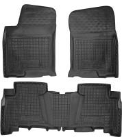 Коврики в салон для Lexus GX  '09- резиновые, черные (AVTO-Gumm)