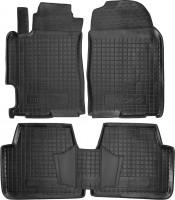 Коврики в салон для Mazda 6 '02-08 резиновые, черные (AVTO-Gumm)
