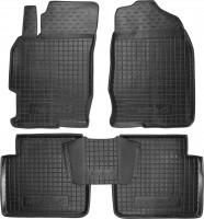 Коврики в салон для Mazda 6 '08-12 резиновые, черные (AVTO-Gumm)