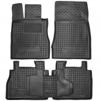 Коврики в салон для Mercedes S-class W220 '98-05 резиновые, черные (AVTO-Gumm)