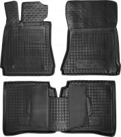 Коврики в салон для Mercedes S-Class W221 '06-13 резиновые, черные (AVTO-Gumm) Long