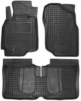 Коврики в салон для Mitsubishi Lancer 9 '04-09 резиновые, черные (AVTO-Gumm)