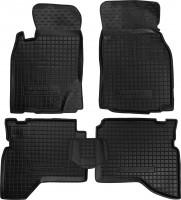 Коврики в салон для Mitsubishi Pajero Sport '98-08 резиновые, черные (AVTO-Gumm)