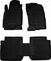 Коврики в салон для Mitsubishi Outlander '03-07 резиновые, черные (AVTO-Gumm)