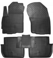 Коврики в салон для Mitsubishi Outlander XL '07-12 резиновые, черные (AVTO-Gumm)