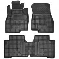 Коврики в салон для Mitsubishi Grandis '03-11 резиновые, черные (AVTO-Gumm) 1+2 ряд