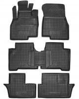 Коврики в салон для Mitsubishi Grandis '03-11 резиновые, черные (AVTO-Gumm) 1+2+3 ряд