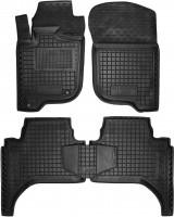 Коврики в салон для Mitsubishi L200 / Triton '05-13, короткая база, резиновые, черные (AVTO-Gumm)