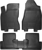 Коврики в салон для Nissan X-Trail '08-15 резиновые, черные (AVTO-Gumm)