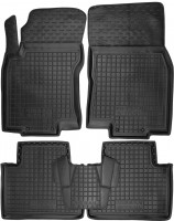 Коврики в салон для Nissan X-Trail (T32) '14- резиновые, черные (AVTO-Gumm)