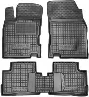 Коврики в салон для Nissan Qashqai '14- резиновые, черные (AVTO-Gumm)