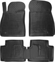 Коврики в салон для Opel Insignia '09- резиновые, черные (AVTO-Gumm)