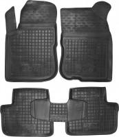 Коврики в салон для Peugeot 208 '12- резиновые, черные (AVTO-Gumm)