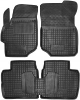 Коврики в салон для Peugeot 301 '12- резиновые, черные (AVTO-Gumm)