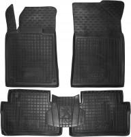 Коврики в салон для Peugeot 508 '11- резиновые, черные (AVTO-Gumm)