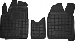 Коврики в салон для Peugeot Expert '07-, 1.6, резиновые, черные (AVTO-Gumm)