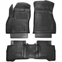 Коврики в салон для Peugeot Bipper '08- резиновые, черные (AVTO-Gumm)