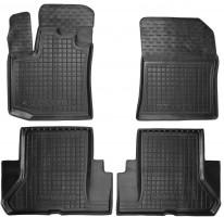 Коврики в салон для Renault Dokker '12- резиновые, черные (AVTO-Gumm)