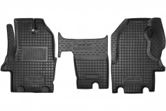 Коврики в салон для Renault Master '97-03 резиновые, черные (AVTO-Gumm)