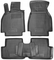 Коврики в салон для Renault Megane '02-08 резиновые, черные (AVTO-Gumm)