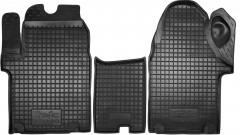 Коврики в салон для Renault Trafic '01-14 резиновые, черные (AVTO-Gumm)